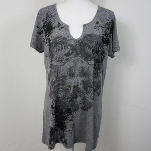 C69 Maurices Gray Embellished Tee